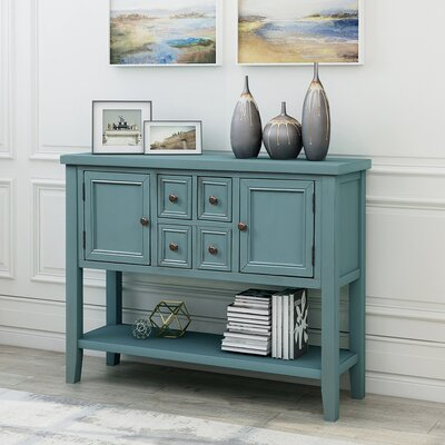 Peer Favorite Coggrey 46 Wide 4 Drawer Sideboard Breakwater Bay Color Dark Blue Ibt Shop