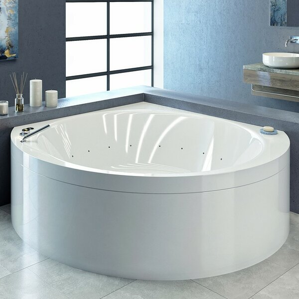 Suri-Wht™ 66.5 x 66.5 Corner Air/Whirlpool Bathtub by Aquatica