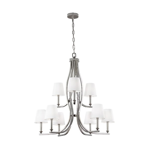 Havilland 9 - Light Shaded Tiered Chandelier By House Of Hampton