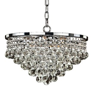 Summerhill 6-Light Crystal Chandelier By Glow Lighting