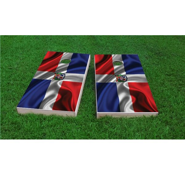 Dominican Flag Cornhole Game Set by Custom Cornhole Boards