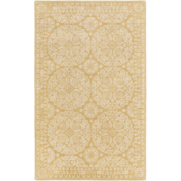 Smithsonian Hand-Tufted Yellow/Neutral Area Rug by Smithsonian