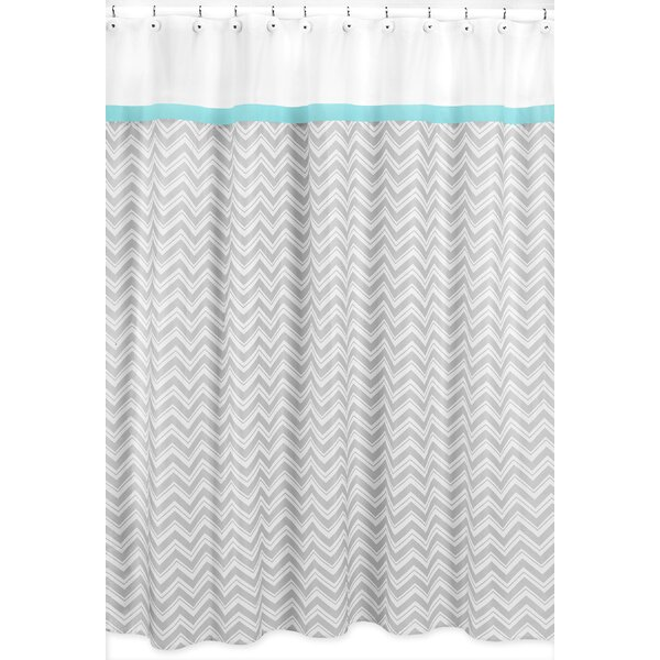 Zig Zag Cotton Shower Curtain by Sweet Jojo Designs