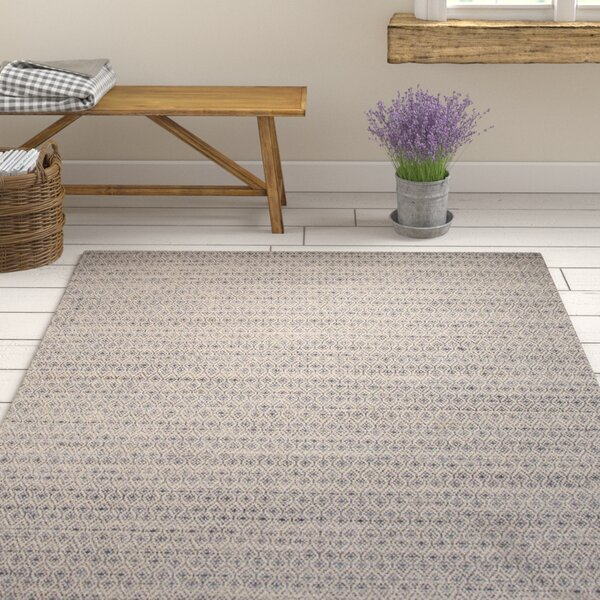 Turton Taupe/Blue Moroccan Area Rug by Gracie Oaks
