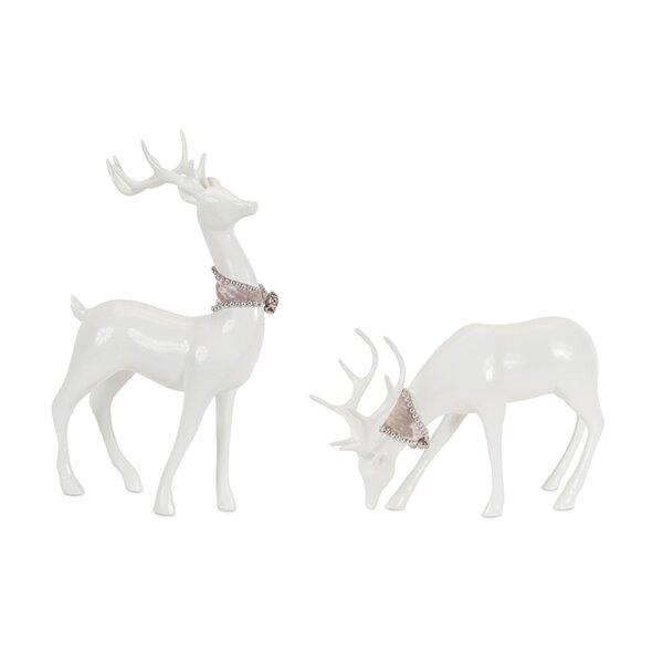 2 Piece Deer Resin Set by The Holiday Aisle