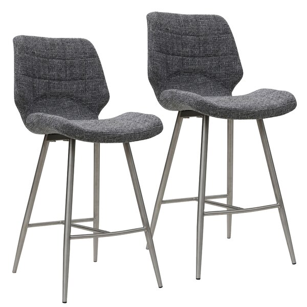 Akron 26'' Bar Stool (Set of 2) by Orren Ellis
