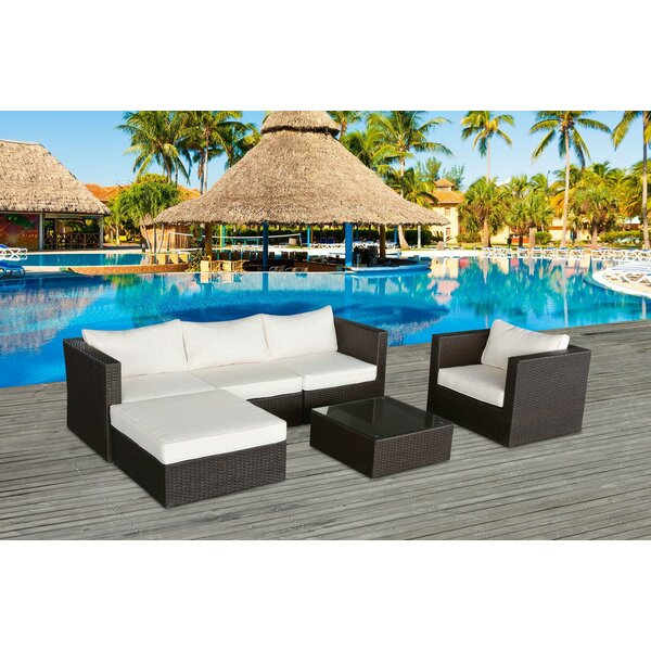 Cabo 4 Piece  Sofa Set with Cushions by Mano Patio