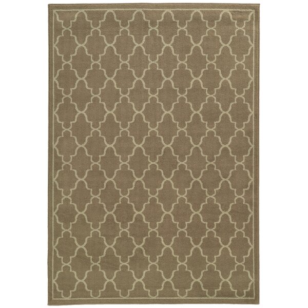 Delshire Grey/Beige Area Rug by Charlton Home