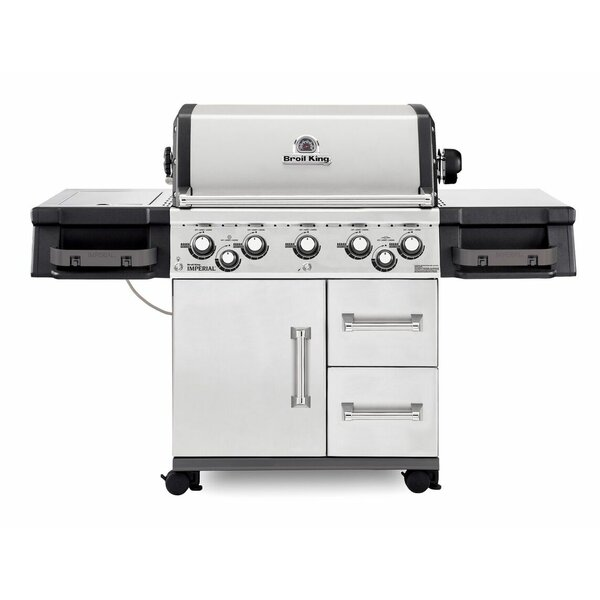 Imperial 590 5-Burner Gas Grill with Side Burner by Broil King