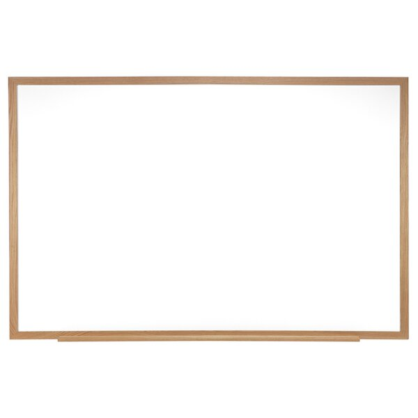 Ghent Magnetic Porcelain Whiteboard with Wood Frame by Ghent