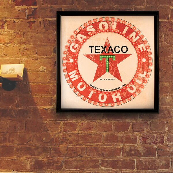 Vintage Texaco Gasoline Motor Oil LED Marquee Sign by Crystal Art Gallery