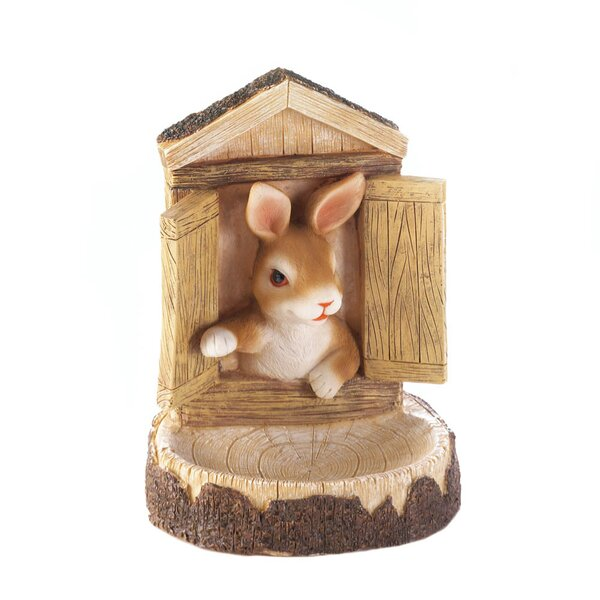 Bunny Wall Decorative Tray Bird Feeder by Zingz & Thingz