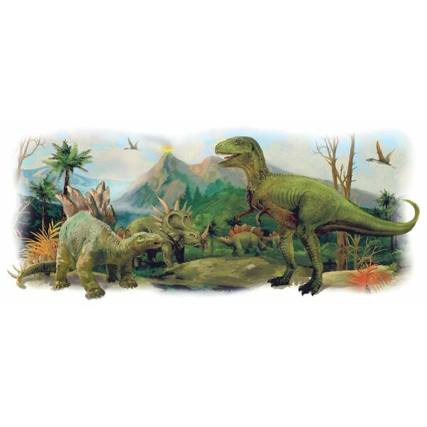 Dinosaurs Giant Scene Peel and Stick Wall Decals by Room Mates