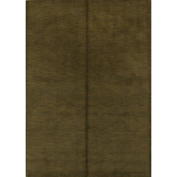 Kasandra Gabbeh Indian Oriental Hand-Woven Wool Green Area Rug by Red Barrel Studio