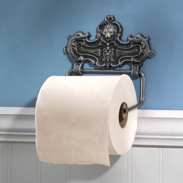 Victorian Lion Bathroom Cast Iron Wall Mount Toilet Paper Holder