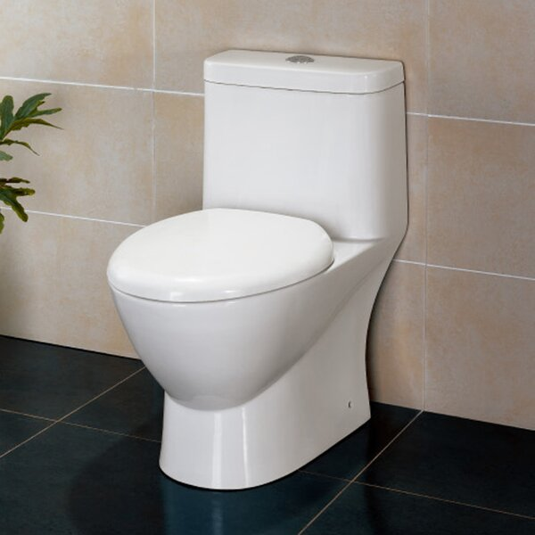 Platinum Adriana Dual-Flush Elongated One-Piece Toilet (Seat Included) by Ariel Bath