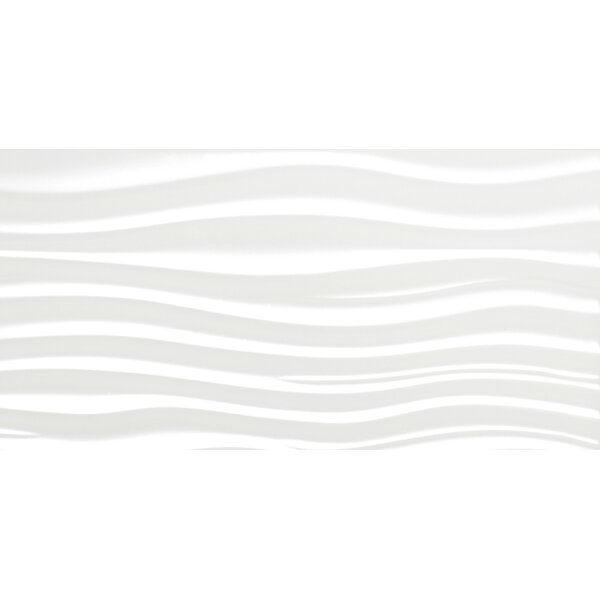 Jazz Ripple 12 x 24 Ceramic Field Tile in White by Emser Tile
