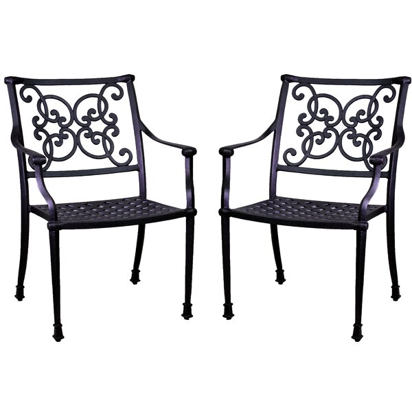 Fisher Stacking Patio Dining Chair (Set of 2) by Three Posts