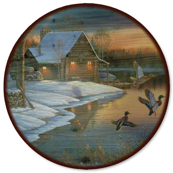 Back Water Mallards Lazy Susan by WGI-GALLERY