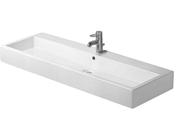 Vero Ceramic 48 Wall Mount Bathroom Sink with Overflow
