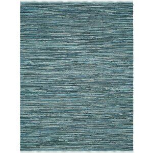 Shatzer Hand-Woven Turquoise Area Rug