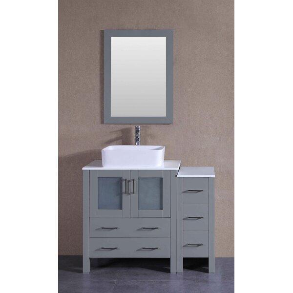 Gallant 42 Single Bathroom Vanity Set with Mirror by Bosconi