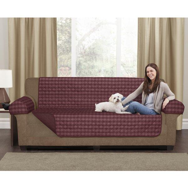 Buffalo Check Box Cushion Loveseat Slipcover Set by Maytex