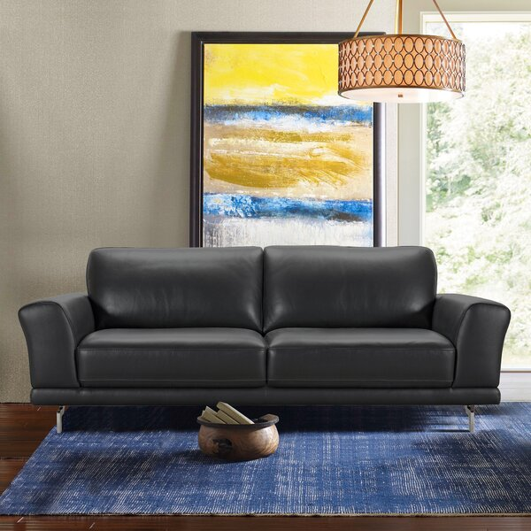 Top Recommend Randalholme Contemporary Leather Sofa Hot Deals 66% Off
