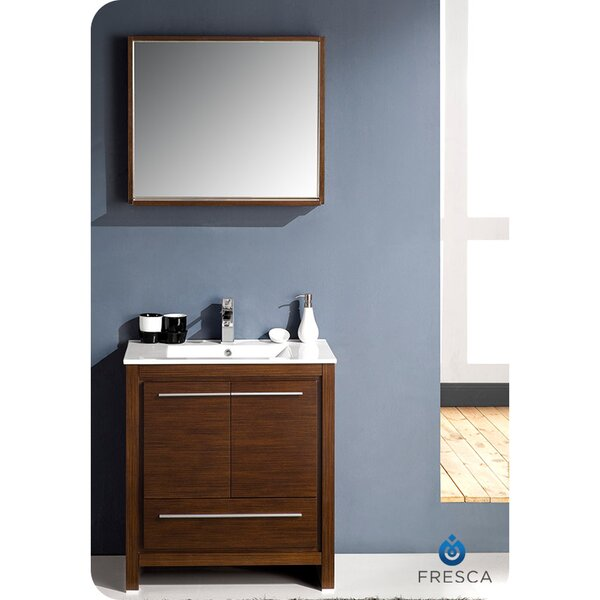 Allier 30 Single Bathroom Vanity Set with Mirror by Fresca