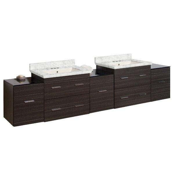 Hinerman 89 Wall-Mounted Double Bathroom Vanity Set by Royal Purple Bath Kitchen