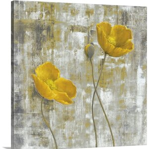 'Yellow Flowers I' by Carol Black Painting Print on Canvas by Great Big Canvas