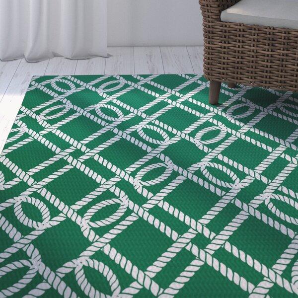 Bridgeport Green Indoor/Outdoor Area Rug by Beachcrest Home