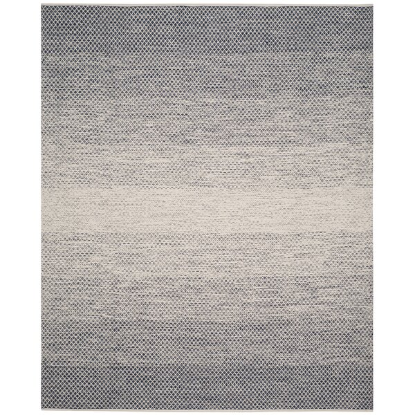Saleem Hand-Woven Navy/Ivory Area Rug by Bungalow Rose