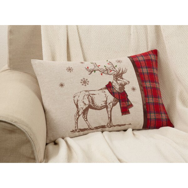 Naveen Reindeer Decorative Lumbar Pillow by The Holiday Aisle