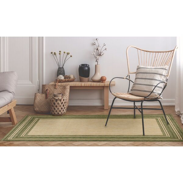 Desantiago Green/Beige Indoor/Outdoor Area Rug by Highland Dunes