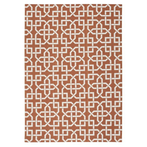 Spadefish Rust Indoor/Outdoor Area Rug by Bay Isle Home