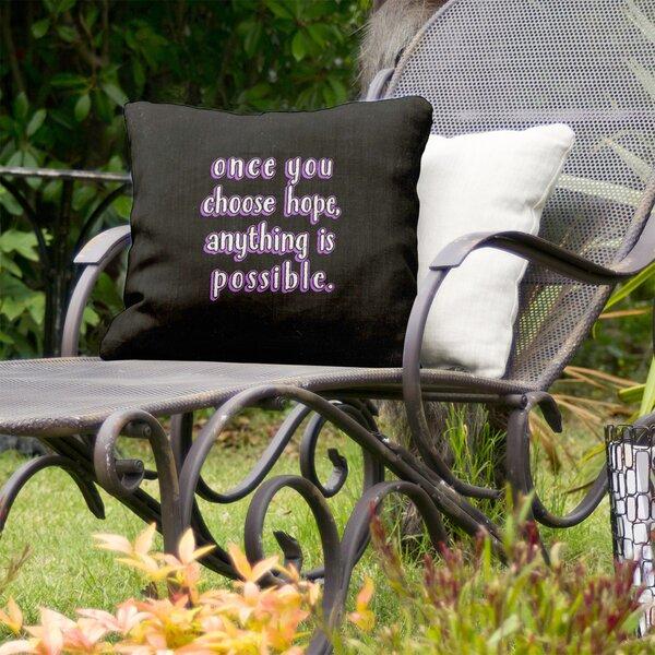 Choose Hope Indoor/Outdoor Throw Pillow
