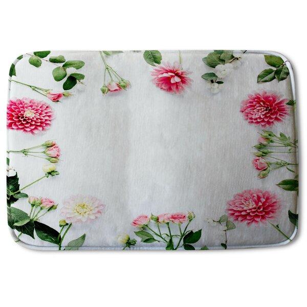 Aneela Scattered Flowers Designer Bath Rug