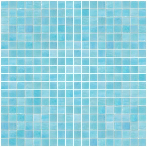 Iridescent 0.63 x 0.63 Glass Mosaic Tile in Blue/Green by Susan Jablon