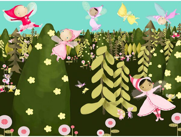 Happy Fairies Canvas Art by Oopsy Daisy