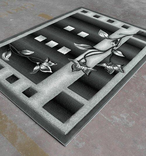 Black Area Rug by Rug Tycoon