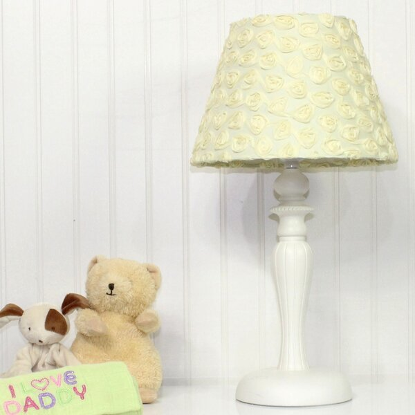 Butterfly Garden Yellow Rose 15 Table Lamp by Nurture Imagination