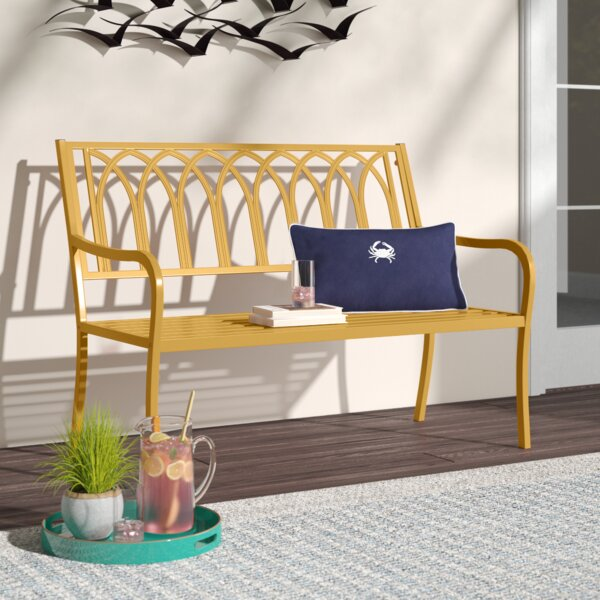 Romy Steel Bench by Highland Dunes Highland Dunes