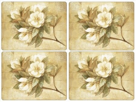 Sugar Magnolia Placemat (Set of 4) by Pimpernel