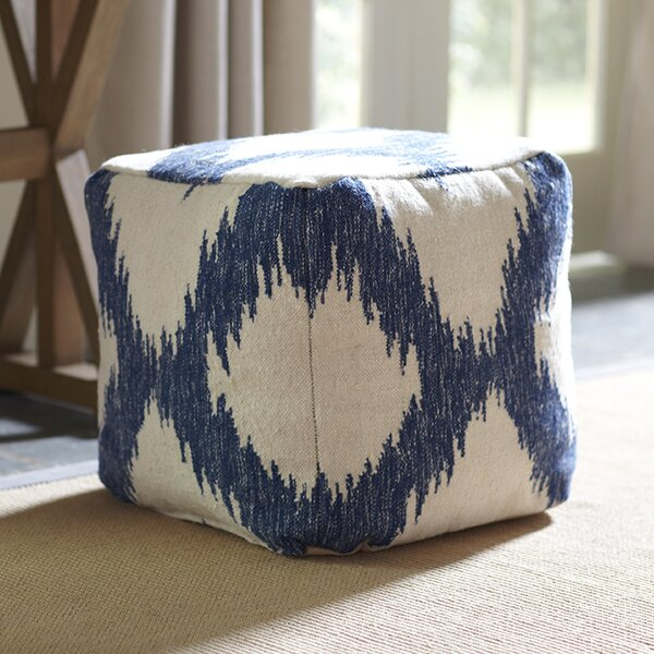 Hanley Ikat Pouf by Birch Lane™