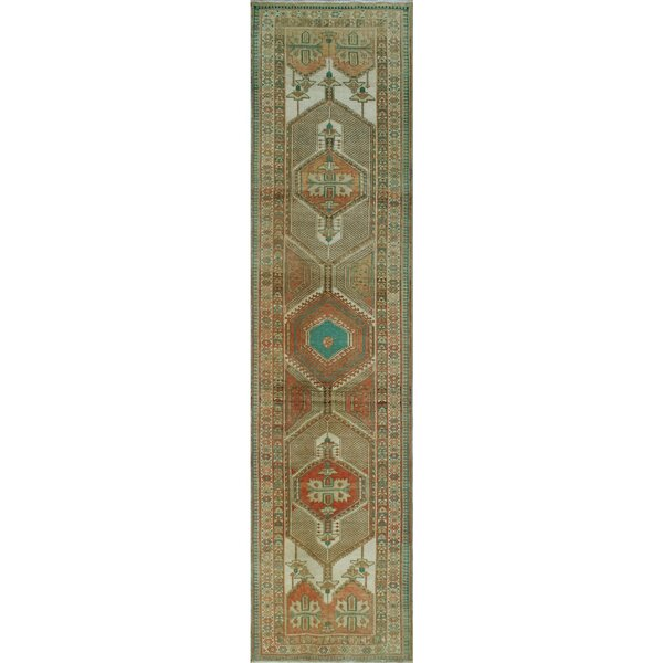 One-of-a-Kind Altizer Sherazi Hand-Knotted Wool Ivory Area Rug by Isabelline