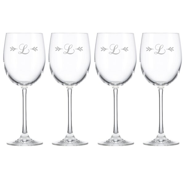 Merlot Script Tuscany Monogram Chardonnay 12 Oz. White Wine Glass (Set of 4) by Lenox