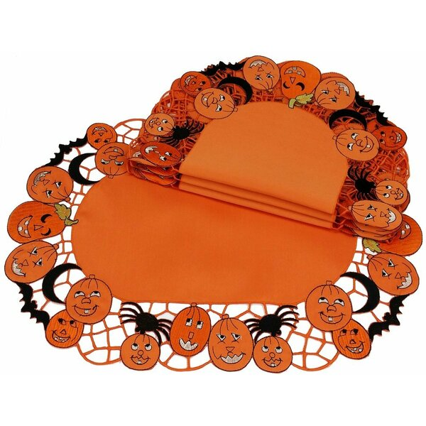 Happy Jack-O-Lanterns Placemat (Set of 4) by Xia Home Fashions