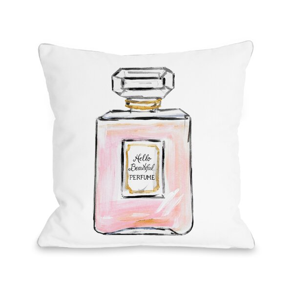 Hello Beautiful Perfume Multiple Throw Pillow by One Bella Casa