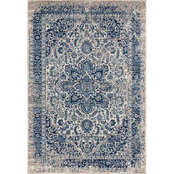 Penson Transitional Blue Area Rug by Bungalow Rose